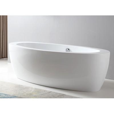 Ванна акриловая отдельностоящая ABBER AB9206 185х91 см