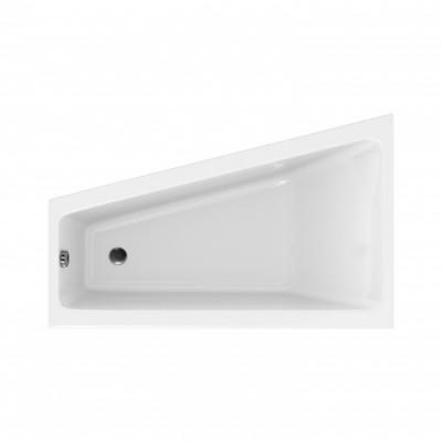 Ванна акриловая асимметричная Cersanit Crea 160x100 см, левая