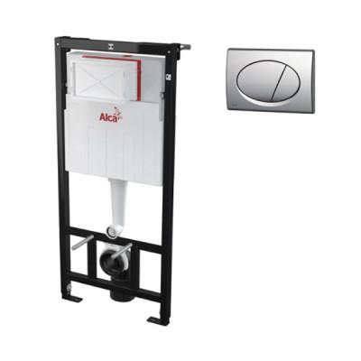 Инсталляция для унитаза AlcaPlast AM101/1120-3:1RS M71-001, с кнопкой хром