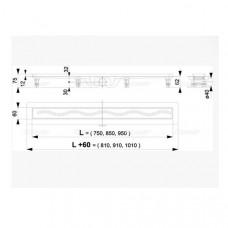 Желоб водоотводящий для душа AlcaPlast Simple APZ8-950M