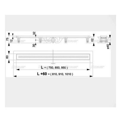 Желоб водоотводящий для душа AlcaPlast Simple APZ9-850M