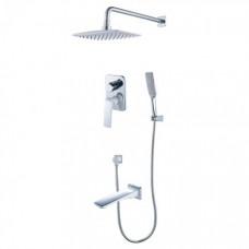 Душевая система для ванны встраиваемая Lemark Allegro LM5922CW
