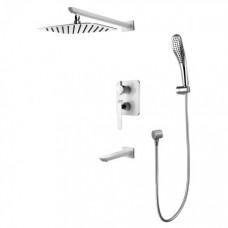Душевая система для ванны встраиваемая Lemark Melange LM4922CW