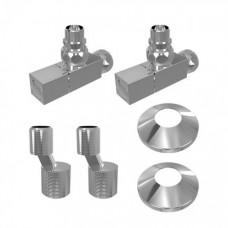Комплект подключения для водяного полотенцесушителя Lemark LM03412S, хром