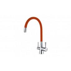 Смеситель для кухни с подключением к фильтру Lemark COMFORT LM3075COrange