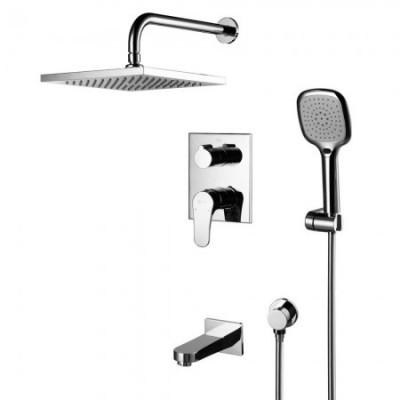 Душевая система для ванны встраиваемая Lemark Shift LM4322C