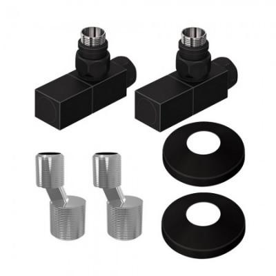 Комплект подключения для водяного полотенцесушителя Lemark LM03412SBL, черный