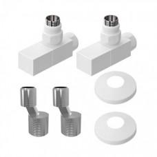 Комплект подключения для водяного полотенцесушителя Lemark LM03412SW, белый