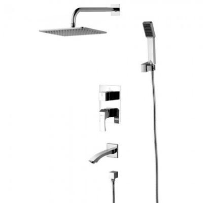 Душевая система для ванны встраиваемая Lemark Unit LM4522C