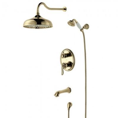 Душевая система для ванны встраиваемая Lemark Brava LM4722G