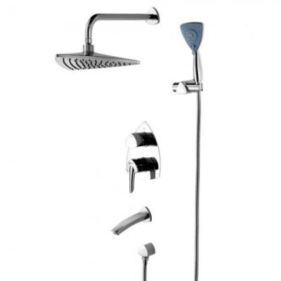 Душевая система для ванны встраиваемая Lemark Mars LM3522C