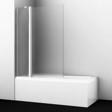 Шторка на ванну WasserKRAFT Berkel 48P02-110L Matt glass Fixed 110(70+40) см