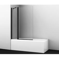 Шторка на ванну WasserKRAFT Berkel 48P02-110BLACK Fixed 110(70+40) см