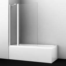 Шторка на ванну WasserKRAFT Berkel 48P02-110WHITE Fixed 110(70+40) см