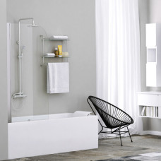 Шторка на ванну WasserKRAFT Leine 35P01-80 80 см