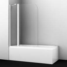 Шторка на ванну WasserKRAFT Leine 35P02-110WHITE Fixed 110(70+40) см