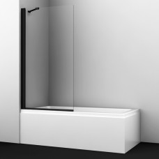 Шторка на ванну WasserKRAFT Berkel 48P01-80BLACK Fixed 80 см