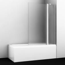 Шторка на ванну WasserKRAFT Berkel 48P02-110R Matt glass Fixed 110(70+40) см