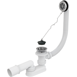 Сифон для ванны AlcaPast A501, с пробкой, хром