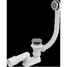 Сифон для ванны AlcaPast A505CRM, click/clack, хром